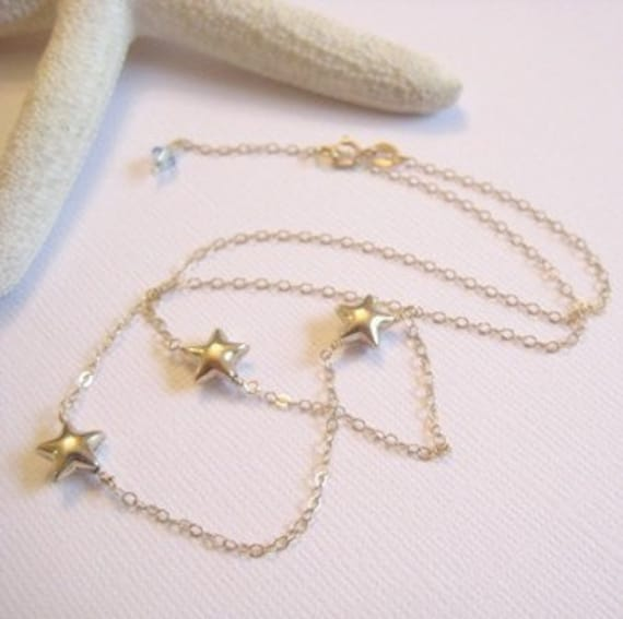 Sofie's Starry Necklace in 14K GOLD FILLED inspired by the film Mamma Mia