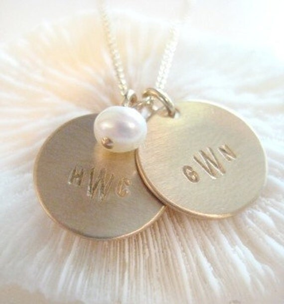 """Personalized Initials Necklace / """"Monogrammed Love"""" in GOLD"""