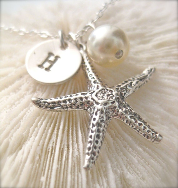 Saving Starfish - Personalized with a Petite Initial