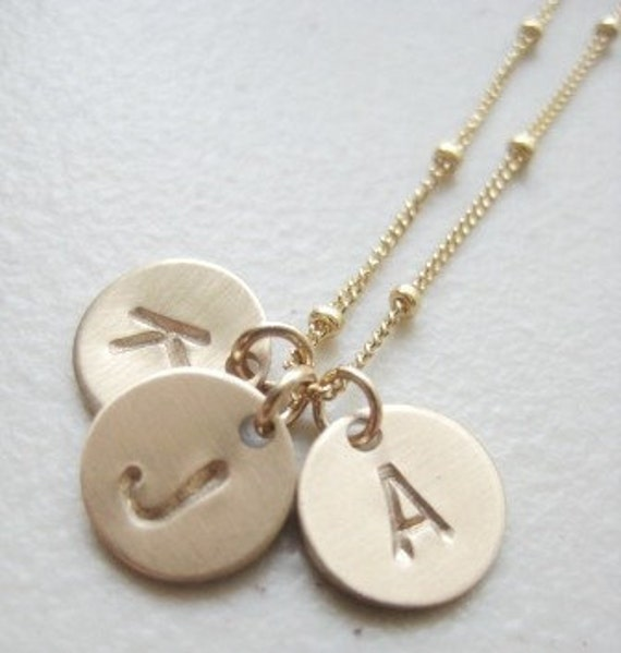 Pretty Gold Initials - with 3 discs