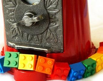 Rainbow Toy Brick Bracelet