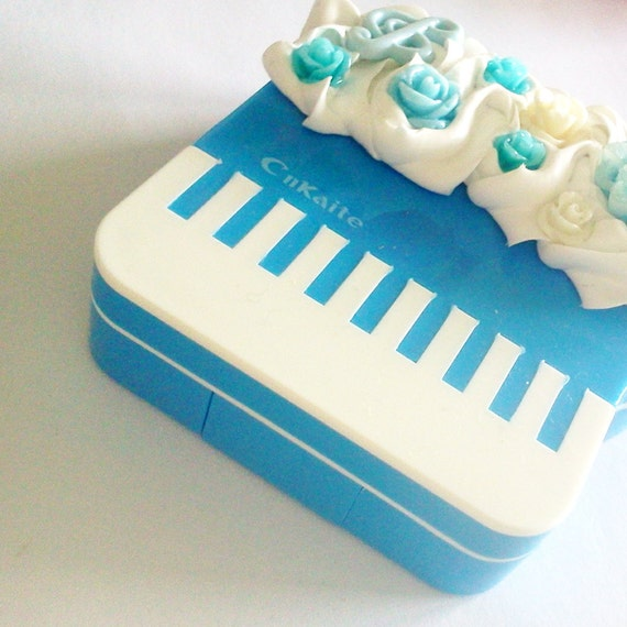 3 x Music Lover Piano Contact Lens Case Set - Baby Grand Deco Kawaii Gothic Lolita Hime Gyaru Music