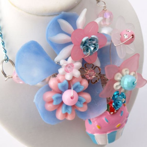 Yummy Cupcake Collaged Necklace