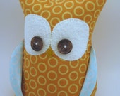 sale Owl bookend for organization designer fabrics READY TO SHIP