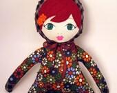Plush doll- rag doll-  READY TO SHIP