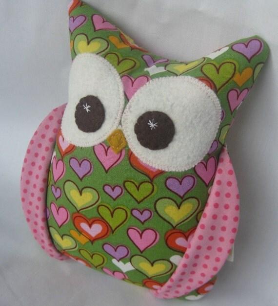 Small Plush Owl READY TO SHIP