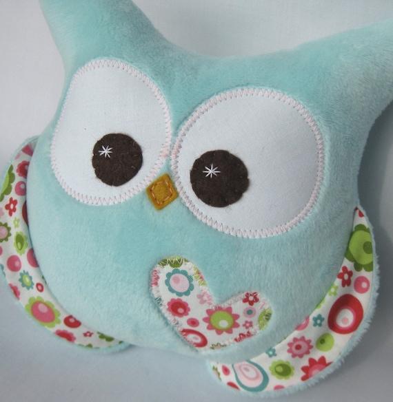 minky soft plush owl aqua minky riley blake fabric