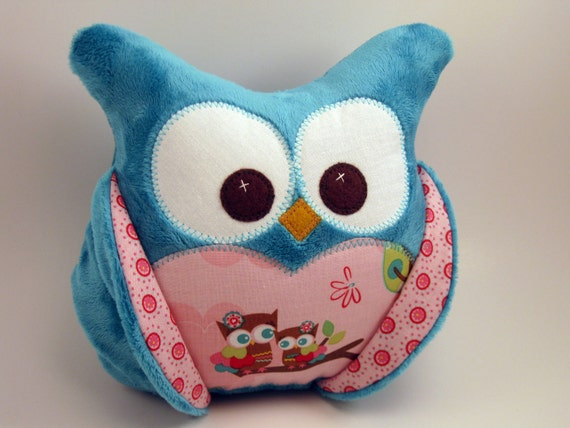 LAST ONE Chubby Minky Plush Owl  Riley Blake fabric