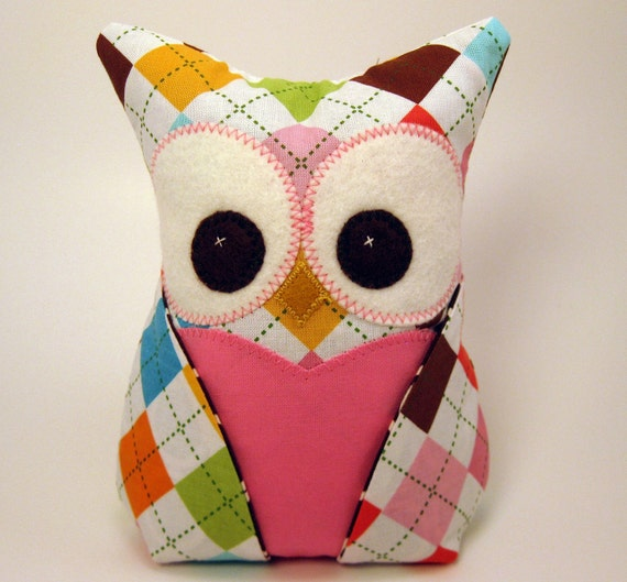 Owl Bookend  Paperweight doorstop READY TO SHIP