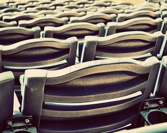 Take Me Out to the Ballgame - 16x20 Fine Art Sports Photography Print - Baseball, Basketball, Football Stadium Chairs Await Fans on Game Day