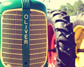 Vintage 1940s Oliver 60 Tractor - 11x14 Fine Art Farm Photography Print - Boy Name Bedroom or Home Decor Photo