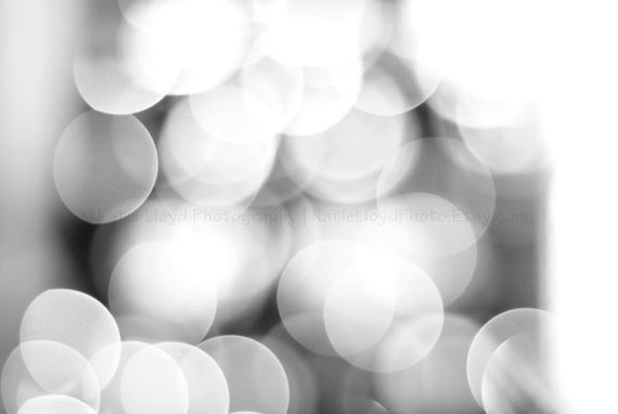 The Imagination of Light - 20x30 Fine Art Abstract Photography Print - Circles of Calming White & Gray Bokeh - Home Decor Photo