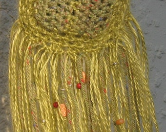 Bohemia - Handcrafted  Beaded Tassel  Scarf ON SALE NOW