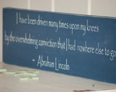 Abraham Lincoln Quote Distressed Wood Sign