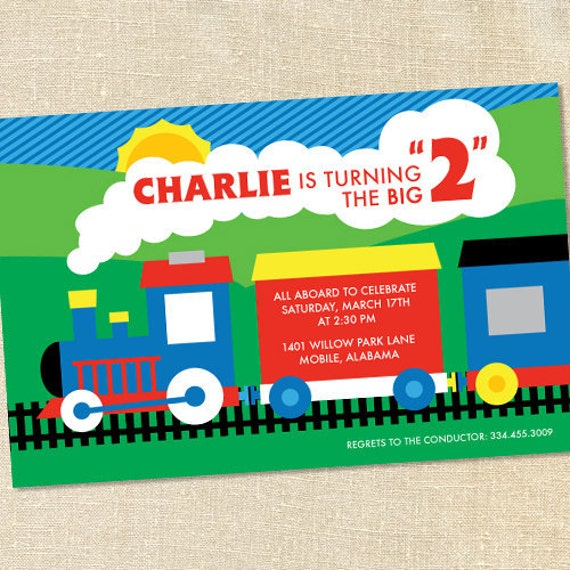 Train Themed Birthday Party Invitations Choice Image Invitation