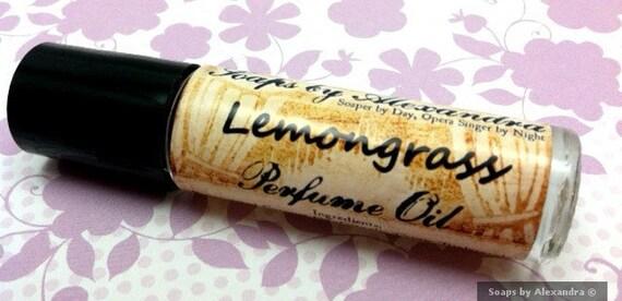 LEMONGRASS - Perfume Oil, Handmade Roll On Perfume - Mother's Day Gift