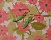 Sale - Green glass earrings
