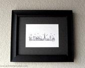 Skyline Series - Black and White Art Print (5 x 7)