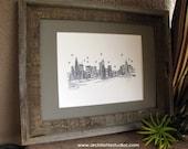 Skyline Series - Black and White Art Print (8 x 10)