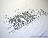 Sketch Series - Lincoln Center, New York City - Art Print (5 x 7)