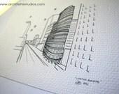 Sketch Series - Lipstick Building, New York City - Art Print (5 x 7)