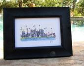 Skyline Series - Color Art Print (4 x 6)