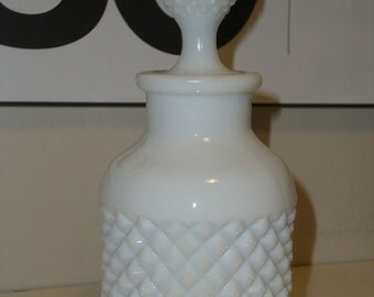 Vintage Milkglass Bottle