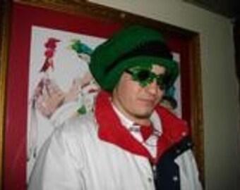 Irish St Patricks Day Lepre Con Hat Adult Leaping Leprechauns