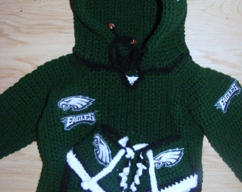 NFL style  Eagles Football Hoodie and Converse Booties