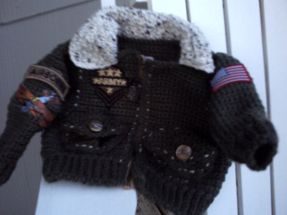 Olivia Grace Nolan Collection In the Army Bomber Aviator Jacket aviator hat  Newborn Infant Baby