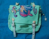 CUSTOMORDER for MyBohoBabyStore Purse or Kindergartenbag - mermaid-