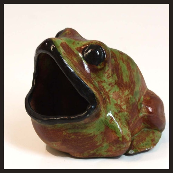 Vintage Kitchen Sponge Holder FROG