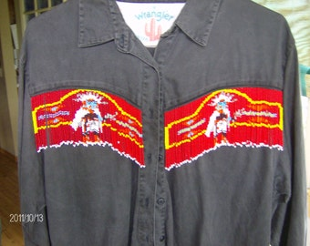 Beaded Shirt Hand Made Seed Beaded Native Inspired
