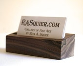 Wooden Business Card Holder - Black Walnut Wood - Ready to Ship