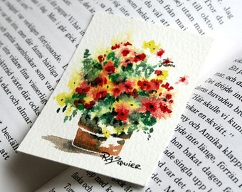 Blossoms of Sunshine an Original Watercolor Painting aceo