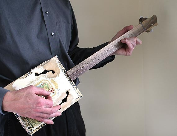 Cigar Box Guitar No. 39 Arturo Fuente Double Chateau Acoustic & Electric - Country Boy Guitar - Ready to Ship