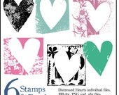 Digital Heart Stamps & Brushes. Instant Download. Digital Clipart png files. Personal and Limited Commercial Use.