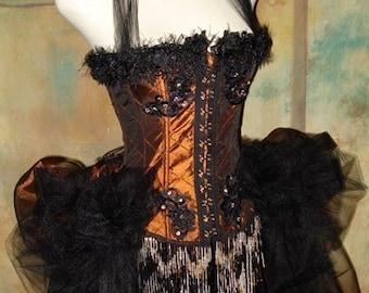 The Copper Alice Vampire Corset Steampunk Tulle Costume 38 L