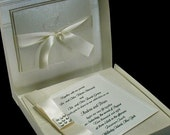 Boxed Couture Wedding Invitations -  Black Tie Wedding - Ivory  - Formal Wedding  --  Invitation  - Set of 100