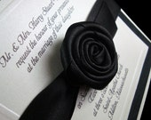 Boxed Wedding Invitation - Couture Invite - Embossed with your Monogram - Black and White for an Elegant Wedding- Set of 100