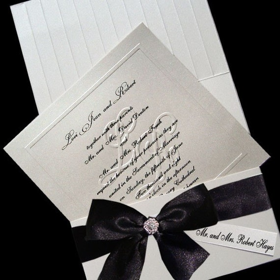 100 Customized Blind Embossed Monogram Wedding By JustEmbossed