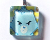 I Wear This When Im Grumpy Glass Tile Pendant