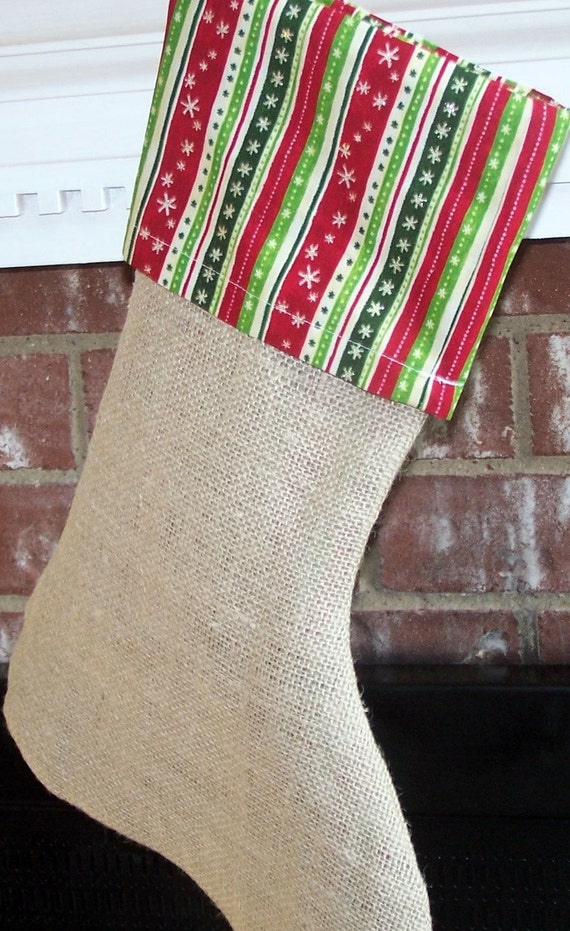 Christmas stocking from Burlap