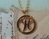 Initial Necklace- H