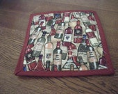 Kitchen Trivet - Wine Bottle Fabric Cover