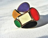 RESERVED FOR MONIQUE - Vintage Button Ring - The Veronica