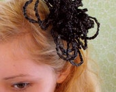 Reserverd for Mia----Classy art deco hair flower nr. 1  from recycled material by crochelina
