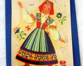 Vintage Meyercord German Girl Decal