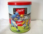Coca Cola Sports Themed Tin Container