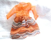 Vintage Barbie Clothes Orange Dress